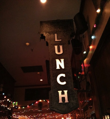 Triple Rock lunch sign